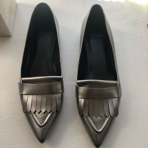 Metallic Marc Fisher Pointed Loafers